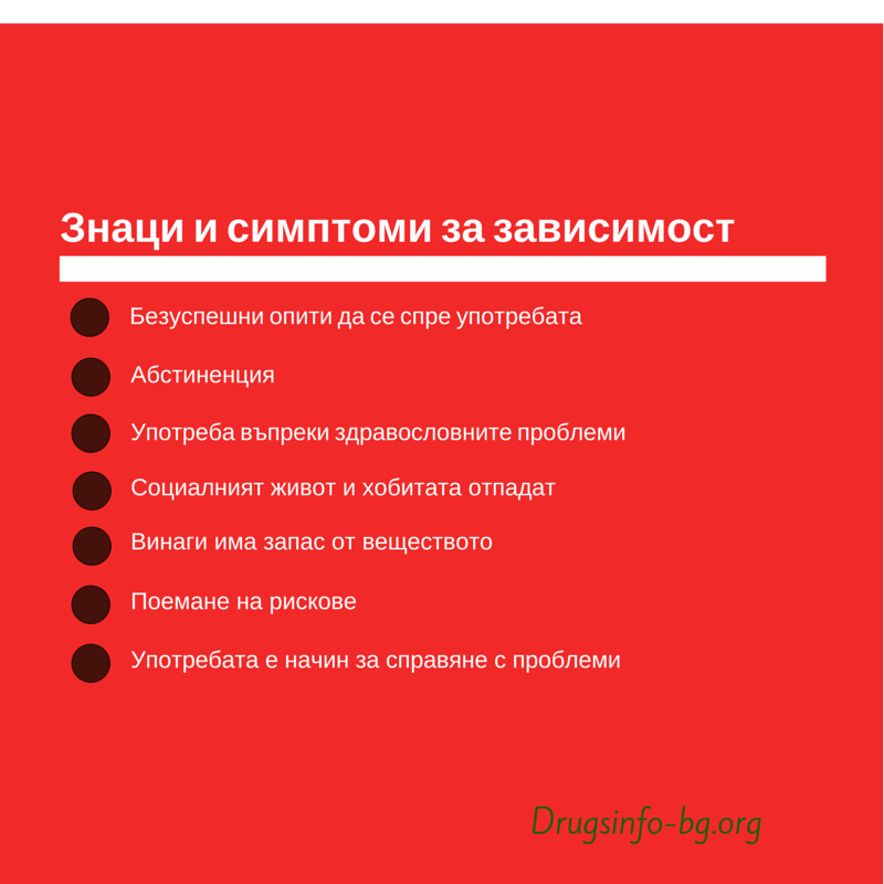 Знаците и симптомите за зависимост-1